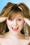 Retrato do close-up da menina dos termas Foto de Stock Royalty Free