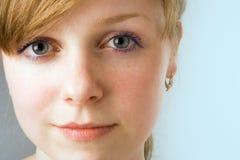 Retrato do close-up da menina dos termas Fotografia de Stock