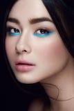 Retrato do close-up da moça asiática Foto de Stock