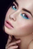 Retrato do close-up da moça asiática Fotografia de Stock Royalty Free