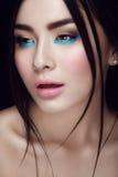 Retrato do close-up da moça asiática Imagem de Stock