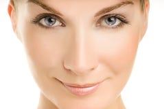 Retrato do close-up da mulher Imagens de Stock