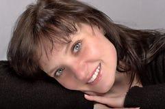 Retrato do close up da mulher Imagem de Stock
