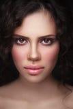 Retrato do close-up da mulher bonita Foto de Stock Royalty Free