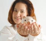 Retrato do close up da mulher de negócio nova bonito Fotografia de Stock Royalty Free