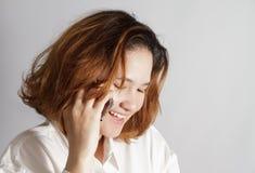 Retrato do close up da mulher de negócio nova bonito fotos de stock royalty free