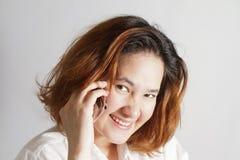 Retrato do close up da mulher de negócio nova bonito foto de stock