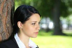Retrato do close up da mulher de negócios fotografia de stock royalty free
