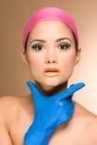 Retrato do Close-up da mulher nova bonita imagens de stock