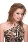 Retrato do close up da mulher selvagem emocional nova Imagens de Stock Royalty Free