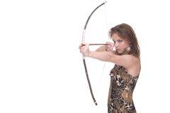 Retrato do close up da mulher selvagem nova com curva Fotografia de Stock