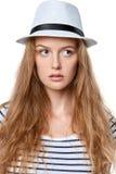 Retrato do close up da mulher sereno nova imagem de stock royalty free