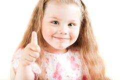 Retrato do close up da rapariga Fotografia de Stock Royalty Free