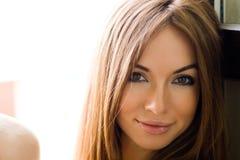 Retrato do Close-up da rapariga Imagens de Stock