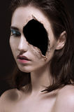 Retrato do close up das jovens mulheres imagem de stock royalty free