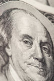 Retrato do close-up de Benjamin Franklin Fotografia de Stock Royalty Free