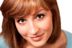 Retrato do Close-up de mulheres bonitas novas Imagens de Stock