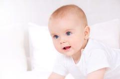 Retrato do close up de recém-nascido adorável Imagem de Stock