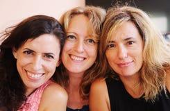 Retrato do close up de três 40 anos de mulher adulta Foto de Stock Royalty Free