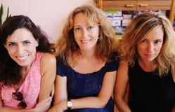 Retrato do close up de três 40 anos de mulher adulta Foto de Stock