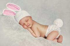 Retrato do close-up de um bebê de sono Fotografia de Stock