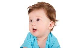 Retrato do close up de um bebê de sorriso bonito Fotos de Stock Royalty Free