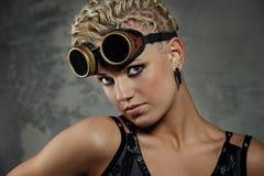 Retrato do Close-up de uma menina do punk do vapor. Imagem de Stock Royalty Free