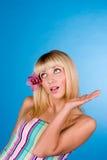 Retrato do Close-up de uma mulher fresca e bonita Foto de Stock Royalty Free