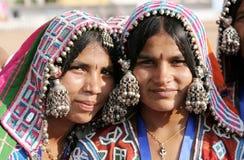 Retrato do close up de uma mulher indiana do banjara imagem de stock