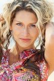 Retrato do close up de uma mulher nova imagem de stock royalty free