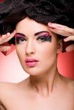 Retrato do close up de uma mulher nova bonita Imagens de Stock