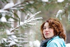 Retrato do close up de uma rapariga Imagens de Stock