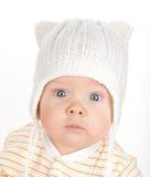 Retrato do close up do bebê bonito foto de stock royalty free