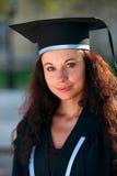 Retrato do Close-up do graduado da fêmea Imagem de Stock