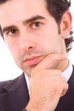Retrato do Close-up do homem de negócio novo Foto de Stock