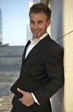 Retrato do close up do homem de negócios novo Imagem de Stock Royalty Free