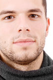 Retrato do Close-up do homem sério novo Imagens de Stock