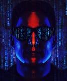 Retrato do codificador do homem Imagem de Stock