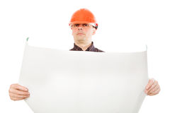 Retrato do construtor da construção Fotografia de Stock Royalty Free