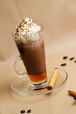Retrato do copo do coffe saboroso Imagens de Stock