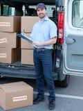 Retrato do correio expresso da confiança Fotografia de Stock Royalty Free