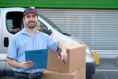 Retrato do correio expresso da confiança Fotos de Stock