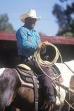 Retrato do cowboy em horseback fotos de stock