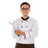 Retrato do cozinheiro chefe asiático Imagem de Stock