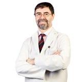 Retrato do dentista de meia idade feliz fotos de stock royalty free