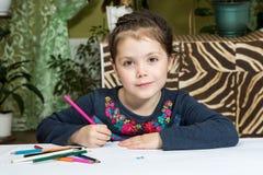 Retrato do desenho bonito da menina Foto de Stock