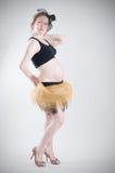 Retrato do divertimento da mulher bonita do prego Imagem de Stock Royalty Free