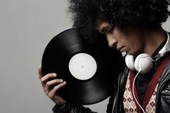 Retrato do DJ da música Foto de Stock Royalty Free