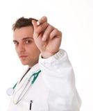 Retrato do doutor com pena Fotografia de Stock