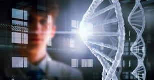 Retrato do doutor considerável Meios mistos Imagem de Stock